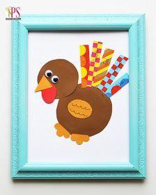 Washi Tape Turkey [Thanksgiving Craft for Kids]
