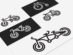 Hipster Bikes - free icon set by Luboš Volkov
