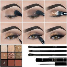 Here we have compiled simple eye makeup tips pictures. They can help you become an eye makeup expert. You can also easily get the perfect eye makeup. Makeup Eye Looks, Eye Makeup Steps, Simple Eye Makeup, Cute Makeup, Smokey Eye Makeup, Skin Makeup, Eyeshadow Makeup, Gold Makeup, Natural Eyeshadow