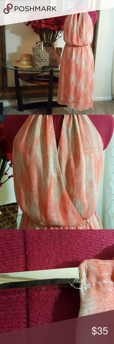 Michael Kors Coral and Cream dress size 2 Michael Kors Coral and cream dress size 2 in Great condition **note pic 3 hardware has scratch on it. Michael Kors Dresses