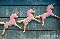 Pink vanilla unicorn cookies!