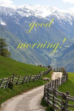Good Morning Card for Media Mountain Landscape