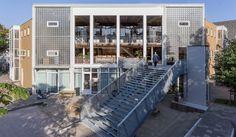 Amsterdam enterprise centre features transparent retractable doors