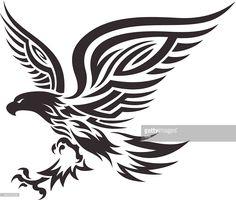 Eagle in tribal style. Tribal Eagle Tattoo, Bald Eagle Tattoos, Tribal Animal Tattoos, Tribal Animals, Tribal Sleeve Tattoos, Tribal Tattoo Designs, Small Tattoo Designs, Tribal Art, Small Tattoos