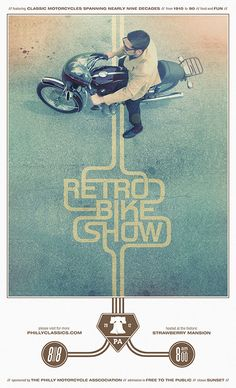 Poster Design - Inspired by movie poster design trends of the late 70s and early 80s in which a framed image accompanies a minimalist type treatment. The typographic style mirrors that of motor-sports graphics of the same vintage.