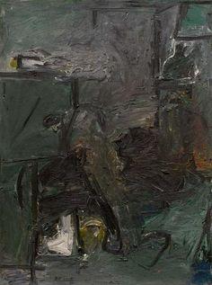 """Milton Resnick (1917-2004) - XXX, 1958, oil on canvas,  54 1/4"""" x 40 1/8"""","""