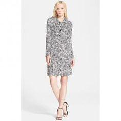 Diane Von Furstenberg - Silk Shift Dress Rose Heart Anna - $268.80 (40% off)