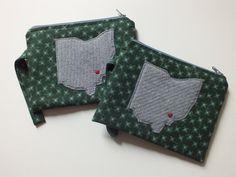 Ohio University Zippered Bag OU Pouch to hold by kuddlebumz