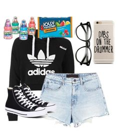 """Sitting in the room eating candy~Lucinda"" by tasialynn03 on Polyvore featuring Topshop, Alexander Wang and Converse"