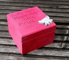 Wooden Personalised Tooth Fairy Box with wooden by scratchycat, $11.00