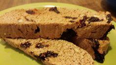 Whole wheat cherry almond biscotti