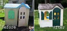 Playhouse Renovation-  That's me!