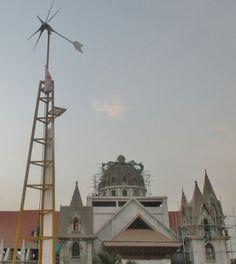 La turbina eólica del tamaño de un ventilador que puede producir energía durante 20 años