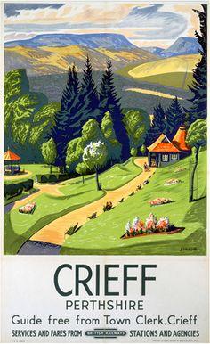 Crieff, Perthshire Art Print by National Railway Museum Easyart.com