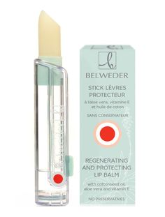 Protective-regenerating lipstick with aloe extract, vitamin Е and cottonseed oil Belweder