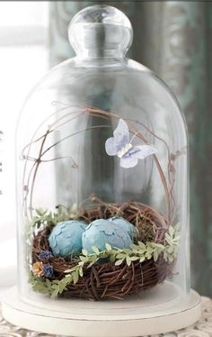 bird nest easter decor