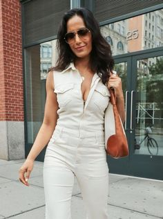 Celebrity chef Padma Lakshmi is spotted out and about in New York City.