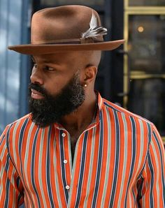 Beautiful people, fashion, places and things. Badass Beard, Epic Beard, Beard Game, Fedora Fashion, Mens Fashion, Beard Growth Kit, Hair Growth, Sleep Hairstyles, Black Men Beards