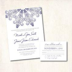DIY Printable  Wedding Invitations  blue  by DesignByChristine, $25.00