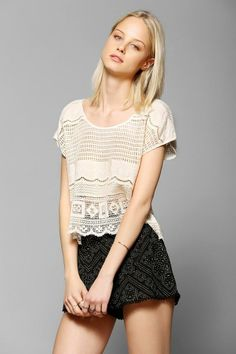 Somedays Lovin Dimensions Lace Top #urbanoutfitters