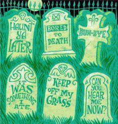funny halloween tombstones - Funny Halloween Tombstones