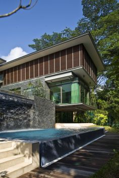 Singapore residence by AR43 Architects #contemporary #waterfall