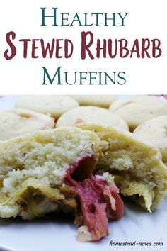 I Just Love These Easy Rhubarb Muffins This Is Such A Quick And Easy Recipe To Make With Homemade Stewed Rhubarb. In the event that Your Looking For A Healthy Sugar Free Stewed Rhubarb Dessert Recipe Idea You Just Have To Try This One Rhubarb Muffins, Rhubarb Desserts, Rhubarb Cake, Rhubarb Recipes, Fun Easy Recipes, Healthy Dessert Recipes, Quick Easy Meals, Fruit Recipes, Delicious Recipes
