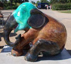 Copenhagen 11 Title: Vera Artist: Jan Oksbøl Callesen Location: The Marina at Langelinie African Forest Elephant, Asian Elephant, Elephas Maximus, Elephant Parade, Southeast Asia, Copenhagen, Mammals, Elephants, Owls
