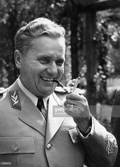 Marshal Tito (1892 - 1980), (Josip Broz), the Yugoslav leader and dictator. Original Publication: Picture Post - 5155 - Tito Answers Twelve Questions - pub. 1950