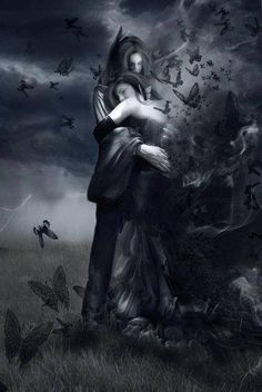 Lovers once in a gothic dream gothic beauty, dark beauty, dark gothic art, Dark Beauty, Gothic Beauty, Gothic Fantasy Art, Dark Gothic Art, Fantasy Love, Fantasy Couples, Dark Love, Goth Art, Angels And Demons