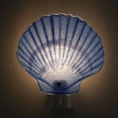 Scallop Shell Glass Night Light