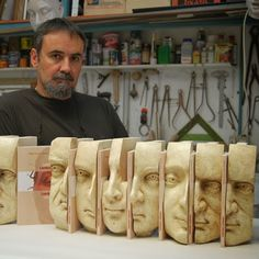 """Román Hernández González with his """"Laboratorio Lombrosiano"""" He will be our guest the next October"""