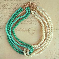 I am thinking I could do this with my long strands of pearls and turquoise necklaces.   http://www.preebrulee.com/collections/all/products/mermaids-kiss-necklace