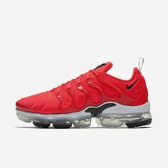 Excellent Nike Air VaporMax Plus Bright Crimson/Black/White - 924453 602 Nike Shoes, Making its debut in Men's Nike Air Max Plus TN Ultra Shoe gets a fresh makeover with a durable leather and mesh upper. Nike Air Max Tn, Nike Air Max Plus, Nike Air Max Running, Nike Air Vapormax, Running Shoes For Men, Mens Nike Air, Nike Men, Adidas, Rolex