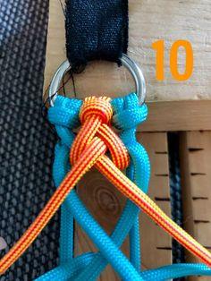 Attilou's Elfenzopf   Swiss Paracord GmbH Paracord Tutorial, Bracelet Tutorial, Paracord Dog Leash, Paracord Keychain, Paracord Bracelet Designs, Paracord Bracelets, Nut Bracelet, Bracelet Crafts, Diy Friendship Bracelets Patterns