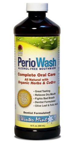 PerioWash Natural Mouthwash, 16oz.