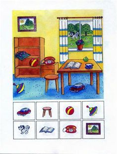 Find the picture - Encuentra la imágen Preschool Learning Activities, Speech Therapy Activities, Preschool Worksheets, Educational Activities, Teaching Kids, Kids Learning, Teaching Spanish, Speech Language Therapy, Speech And Language