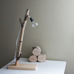 urbanplusforest : white birch forest lamp