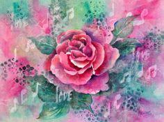 rice paper water media batik | Creative Painting by Martha Kisling: ROSE, LOVE & MUSIC - Watercolor ...