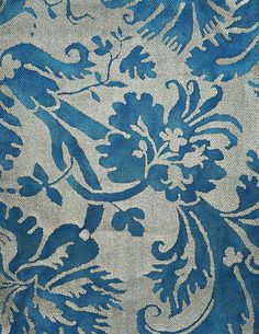 MY FAV. . .FORTUNY Fabric de Medici Blue and Silver