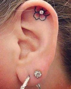 kulak içi dövmeleri inner ear tattoos 2