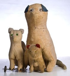 19Th C Early Cloth Toys..