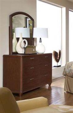 Beaumont Medium Brown Wood Glass Dresser