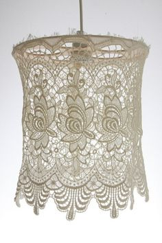 Vintage lace shade for the trailer