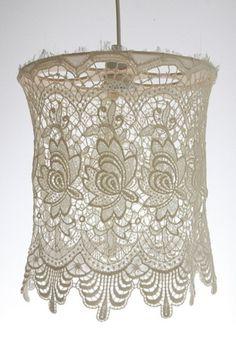 Etsy :: nice :: Vintage Lace Shade