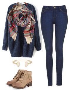 """"""""""" by jennaasadler ❤ liked on Polyvore featuring Topshop and Kendra Scott"""