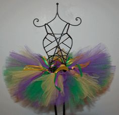 mardi gras tutu making time!