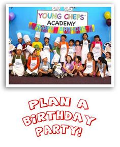 Looking for the perfect birthday party for your budding chef and all of their friends? Schedule a birthday party at Young Chefs Academy! You supply the chefs, we supply the rest!   http://youngchefsacademy.com/birthday-parties