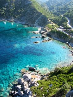 Turquoise Sea, Skopelos Island, Greece