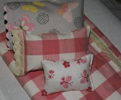 Doll bedding set doll comforter pillows 18 inch by aSummerSwallow